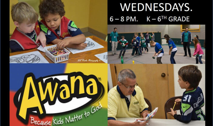 AWANA - Wednesdays 6:00 PM