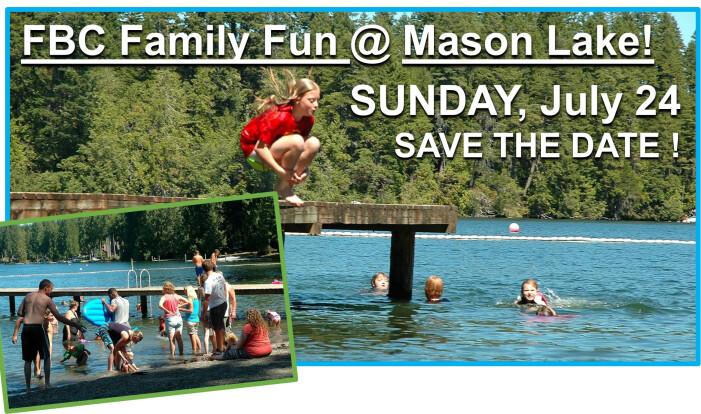Family Fun @ Mason Lake   - Jul 24 2016 12:00 PM