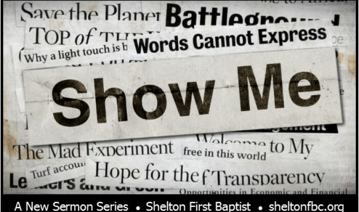 Show Me - from the book of James.    - Jun 26 2016 9:00 AM