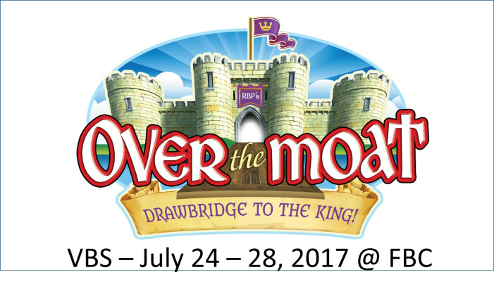 VBS Summer 2017 - Over The Moat!  - Daily 9:00 AM