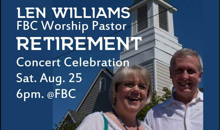 Len Williams, Concert Event - Aug 25 2018 6:00 PM
