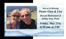 Pastor Glen & Lisa Retirement & Farewell  05.21.21